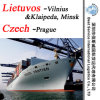 "Sea Transportation to Prague (Czech) ; Vilnius, Klaipeda, Minsk (Lietuvos) -20""/40"""