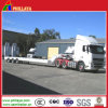 Heavy Duty Crane Machinery Equipment Low Flatbed Semi Trailer