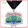 Customized Nickel Finish Soft Enamel Running Activities Medal