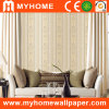 PVC Deep Embossed Stripe Wallpaper for Hotel