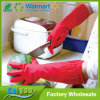 Household Kitchen Long Latex Coated Glove, Unlined and Flock Lined Lengthen Gloves