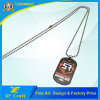 Customized Paint Dog Tag with Printing Logo on One/Both Side for Souvenir (XF-DT01)
