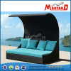 Outdoor Wicker Chaise Lounge with Tent