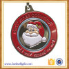 Custome Enamel Engraving Zinc Alloy Christmas Santa Medals