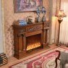 Hotel Furniture European Carving LED Lights Heating Electric Fireplace (320SB)