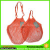 2 Pack Organic Cotton Net Shopping Mesh Produce Bag