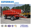 6t Utility Flatbed Agriculture Cargo Transport Drawbar Full Trailer with Sidewall