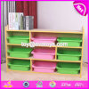 High Quality Kids Primary Natural Wooden Toy Organizer for Wholesale W08c233