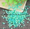 Green Rainbow Colorful Ab Half Round Pearls 3mm to 6mm ABS Imitation Flatback for Garment Decorations Nail Art (TP-green rainbow)