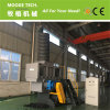 Single shaft plastic pallet/wood/pipe shredder machine