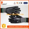 13 Gauge Grey Nylon Liner Black Nitrile Fully Coated Glove