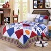 Washable Quilts 100% Cotton Plaid Two-Piece Bedding Set