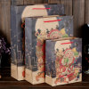 Personalized Printing Brown Paper Gift Bags with Handles for Christmas