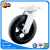 Heavy Duty 8 Inch Industrial Rigid Casters Solid Rubber Wheels