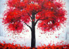 Red Tree Painting Canvas (LH-384000)