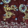 Chinese Traditional Dragon and Phoenix Print Silk Fabric