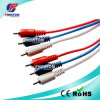 Transparent 3RCA Male to 3RCA Male Audio Video Cable