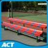 2-Row Portable Gym Bleacher / Sports Bench with Plastic Bleacher Seat