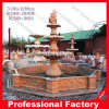 Sunset Red Marble Fountain for Garden Decoration