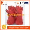 Red Cow Split Welder Safety Gloves Dlw615