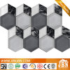 Hexagon and Diamond Shape American Style Glass Mosaic (M855163)