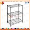 Three Layers Black House and Office Storage Wire Shelf (Zhw4)