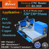 PVC Acrylic PCB Soft Metal Aluminum Copper Wood Woodworking Desktop Small 3 Axis CNC Router