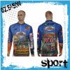 100% Polyester Quickly Dry Sublimation Fishing Jersey (F016)