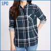 Plaid Slim Fit Checked Shirt with Turn-Down Collar