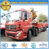 Dongfeng 12 Wheels Heavy Duty 16 T Folding Arm Crane Mounted on Truck