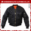 Wholesale Cheap Black Zip up Flight Jackets Custom (ELTBJI-27)