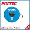 Fixtec Hand Tool Long Round ABS Plastics 50m Fiberglass Measuring Tape