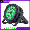 Outdoor DMX Lighting 18X18W 6in1 RGBWA UV LED Flat PAR