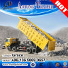 Aotong China Factory 3 Axles Tipping Trailer/ Tractor Hydraulic Dump Semi Trailer for Sale