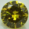 Round Shape Synthetic Stones Yellow Cubic Zirconia