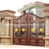 Decorative Modern Power Coated Aluminum Exterior Garden Gate
