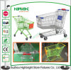 Asian Style Grocery Store Shopping Trolley with Advertisement
