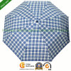 Manual Three Folding Umbrella with Fashion Design Checks (FU-3823Z)