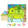 Factory Direct Hot 3D DIY Chindlren Cartoon Wooden Frame Puzzle Educational Toys Deer