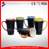 16 Oz Two Tone Color Glazed Ceramic Blackboard Chalk Mug