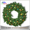 Handmade Holiday Outdoor Christmas Event Wreath Decorations Light