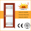 Popular Model Glass Aluminium Bathroom Door with Single Leaf (SC-AAD076)