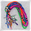 Knoted Rosary, Colourful Beads Rosary, Plastic Beads Rosary (IO-cr303)