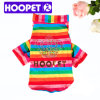 Colorful Rainbow Pattern Dog Pullover Beautiful Pet Dog Clothes