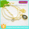 Fashionable Alloy Crystal Number Charm Bracelet Chain Bracelet