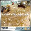 Water Jet Medallion Natural Stone Marble Lobby Flooring, Design Decor
