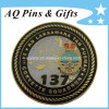 Challenge Coin with Enamel Antique Finish