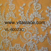 Ivory 1.4m Corded Lace Fabric for Table Cloth Vl-60023c