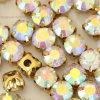 Clear Crystal Ab Sew on Rhinestone in Gold Plating