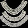 Fashion Cotton Yarn Crocheted Guipure Lace Fabric Neck Collar Lace X015